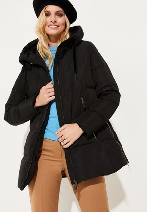 MIT GROSSER KAPUZE - Down coat - black
