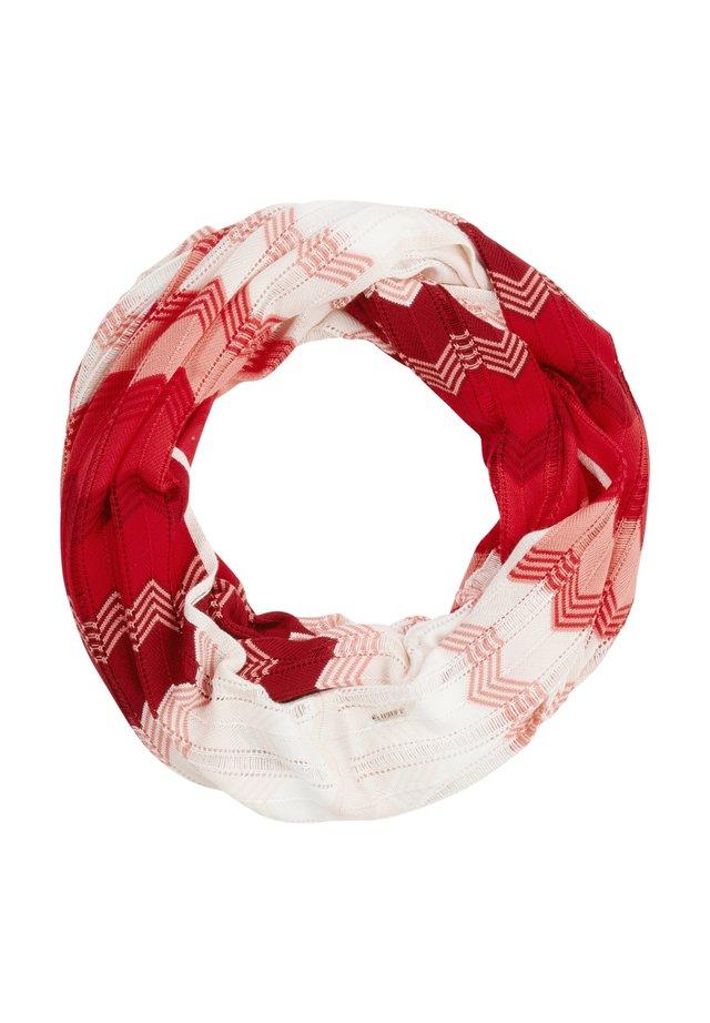 ZICK-ZACK-LOOP AUS STRICK - Snood - dark red zic zac knit