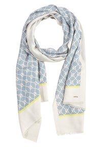 comma - ALLOVERMUSTER - Scarf - champagner contrast logo - 0