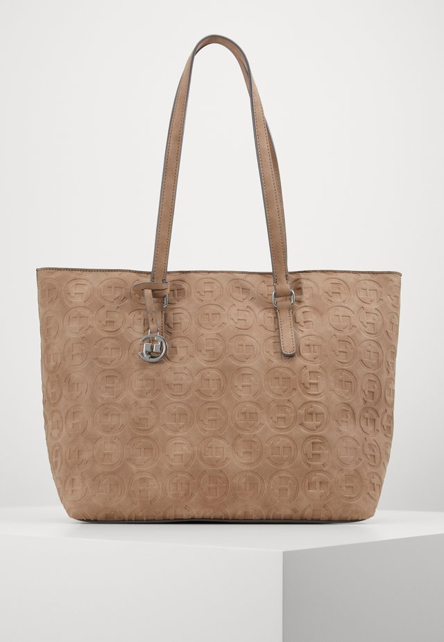 LOGOMANIA SHOPPER - Tote bag - taupe
