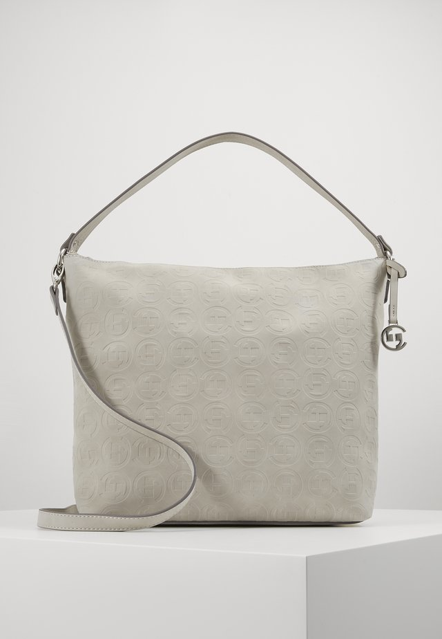 LOGOMANIA HOBO - Handbag - lightgrey