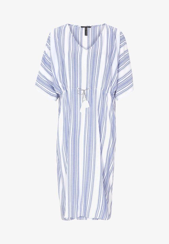 Beach accessory - azure blue stripes