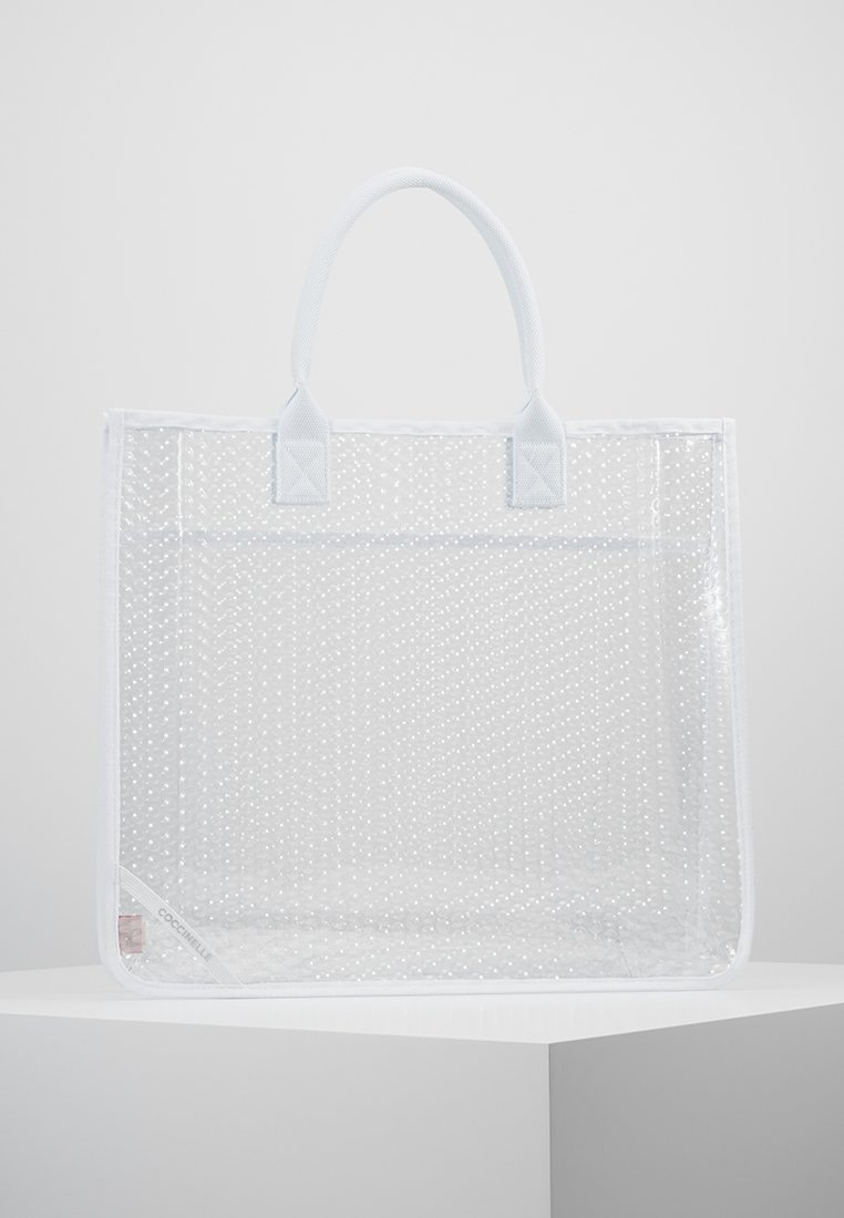 Coccinelle - ELNATH PLURIBALL SHOPPER - Shopping bag - blanche