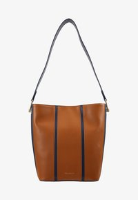 Coccinelle - FRENCHY STRIPES PATCH - Bolso de mano - ink/caramel - 5