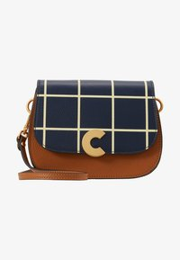 Coccinelle - CRAQUANTE TILES PRINT - Across body bag - ink/caramel - 6