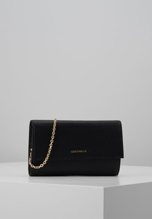 METALLIC SOFT CLUTCH - Psaníčko - noir