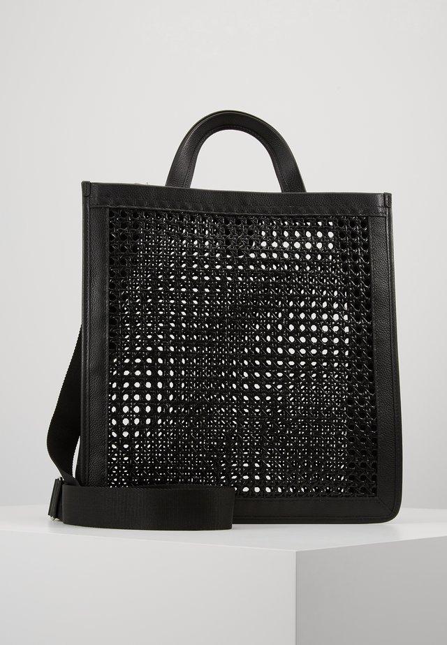BORSA PAGLIA BOTTALATINO - Shopping bag - noir