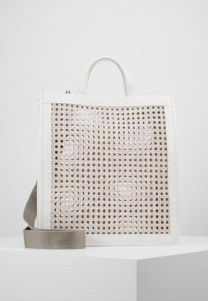 BORSA PAGLIA BOTTALATINO - Tote bag - blanche
