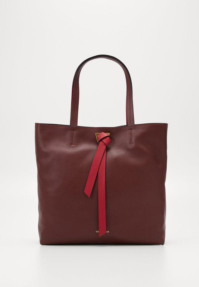 JOY BICOLOR - Shopping bag - marsala/cherry