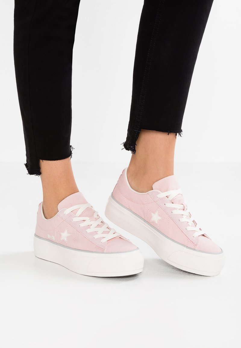 Converse - ONE STAR PLATFORM - Trainers - peach skin/white/mouse