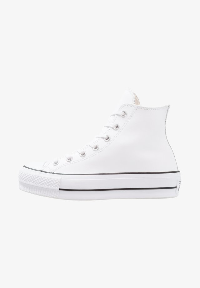 CHUCK TAYLOR ALL STAR LIFT CLEAN - Høye joggesko - white/black