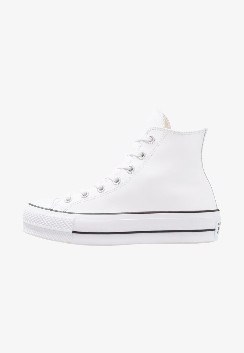Converse - CHUCK TAYLOR ALL STAR LIFT CLEAN - Korkeavartiset tennarit - white/black