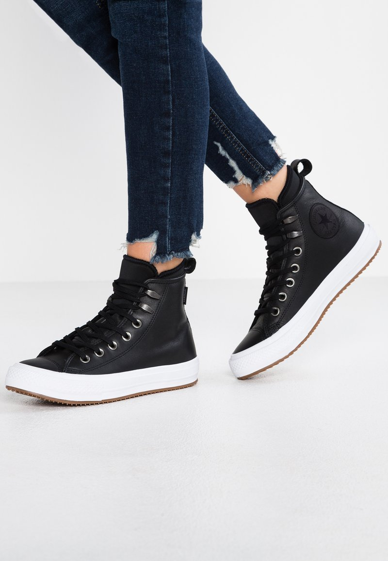 Converse - CHUCK TAYLOR ALL STAR WP BOOT - Sneaker high - black/white