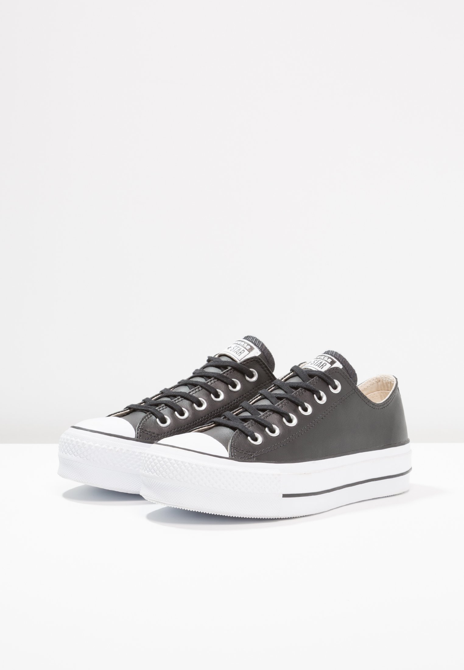 Converse CHUCK TAYLOR ALL STAR LIFT CLEAN - Sneakersy niskie - black/white