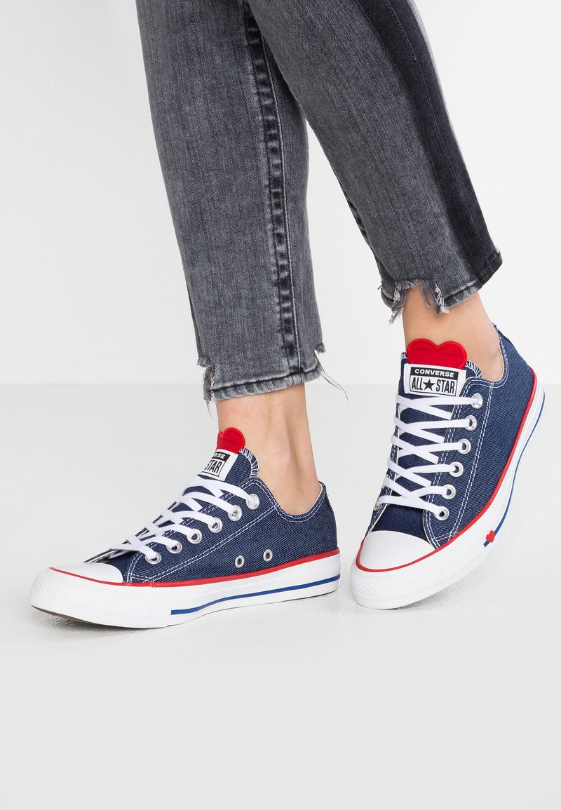 Converse - CHUCK TAYLOR ALL STAR - Sneaker low - indigo/enamel red/white