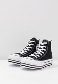 Converse - CHUCK TAYLOR ALL STAR PLATFORM - Sneakers hoog - black - 4