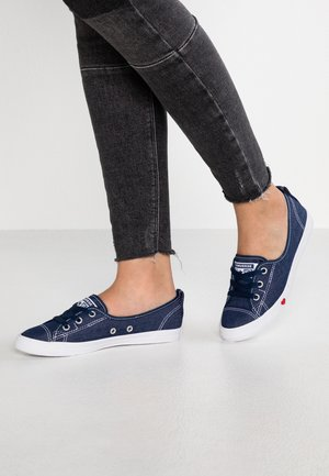 CHUCK TAYLOR ALL STAR LACE - Baskets basses - indigo/white/enamel red