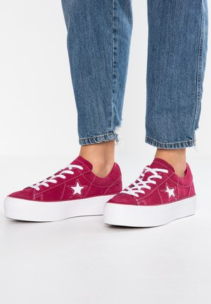 ONE STAR PLATFORM - Sneakers basse - rhubarb/white