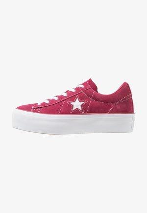 ONE STAR PLATFORM - Joggesko - rhubarb/white