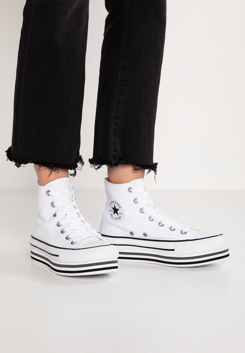 Converse - CHUCK TAYLOR ALL STAR PLATFORM - Sneakers hoog - white