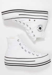 Converse - CHUCK TAYLOR ALL STAR PLATFORM - Sneakers hoog - white - 3