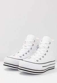 Converse - CHUCK TAYLOR ALL STAR PLATFORM - Sneakers alte - white - 4