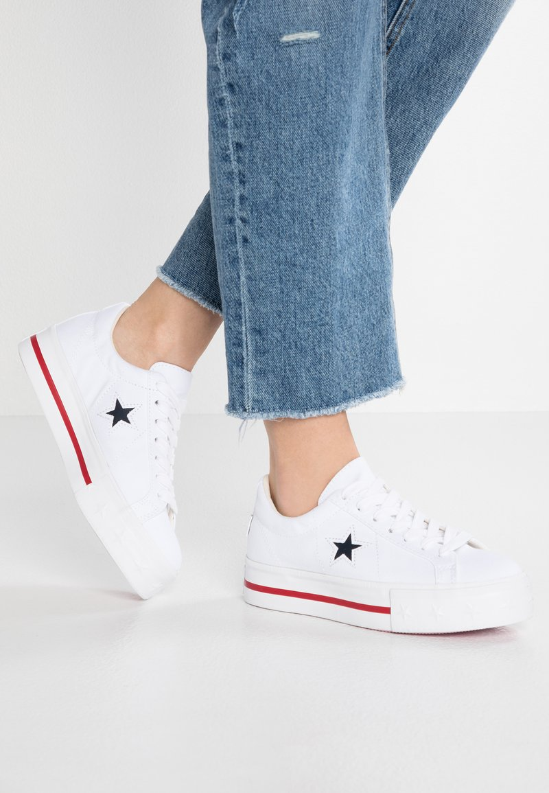Converse - ONE STAR PLATFORM - Trainers - white