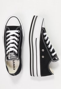 Converse - CHUCK TAYLOR ALL STAR PLATFORM LAYER - Sneakers laag - black/white/thunder - 3