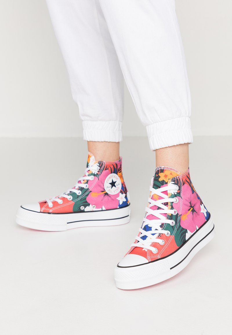 Converse - CHUCK TAYLOR ALL STAR LIFT - Zapatillas altas - strawberry jam/white/black