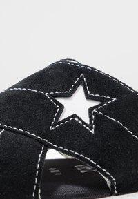 Converse - ONE STAR  - Matalakantaiset pistokkaat - black/egret/white - 2