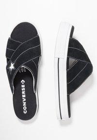 Converse - ONE STAR  - Matalakantaiset pistokkaat - black/egret/white - 3