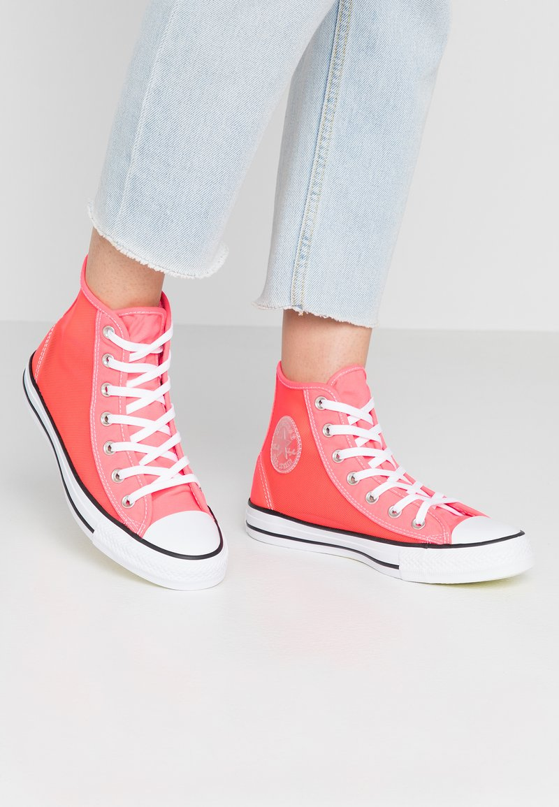Converse - CHUCK TAYLOR - High-top trainers - racer pink/white/black