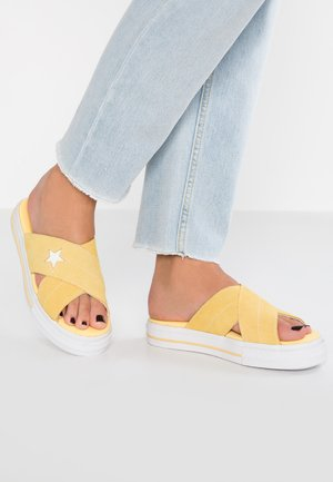 ONE STAR  - Pantolette flach - butter yellow/egret/white