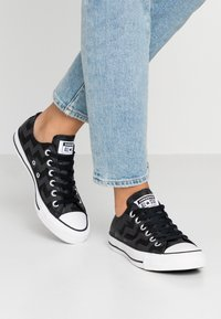 Converse - CHUCK TAYLOR ALL STAR GLAM DUNK - Baskets basses - black/white - 0