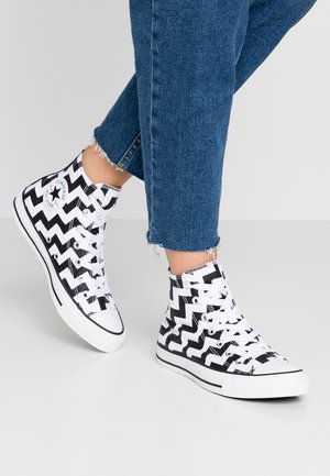 CHUCK TAYLOR ALL STAR GLAM DUNK - High-top trainers - white/black