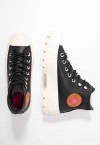 Converse - CHUCK TAYLOR ALL STAR LUGGED RETROGRADE - Baskets montantes - black/mod pink/egret - 3
