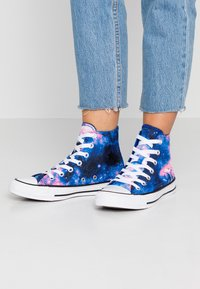 Converse - CHUCK TAYLOR ALL STAR MISS GALAXY - Vysoké tenisky - lapis blue/black/barely rose - 0