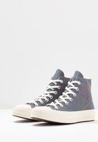 Converse - CHUCK 70 RAINBOW - Sneakers hoog - black/cool grey/egret - 4