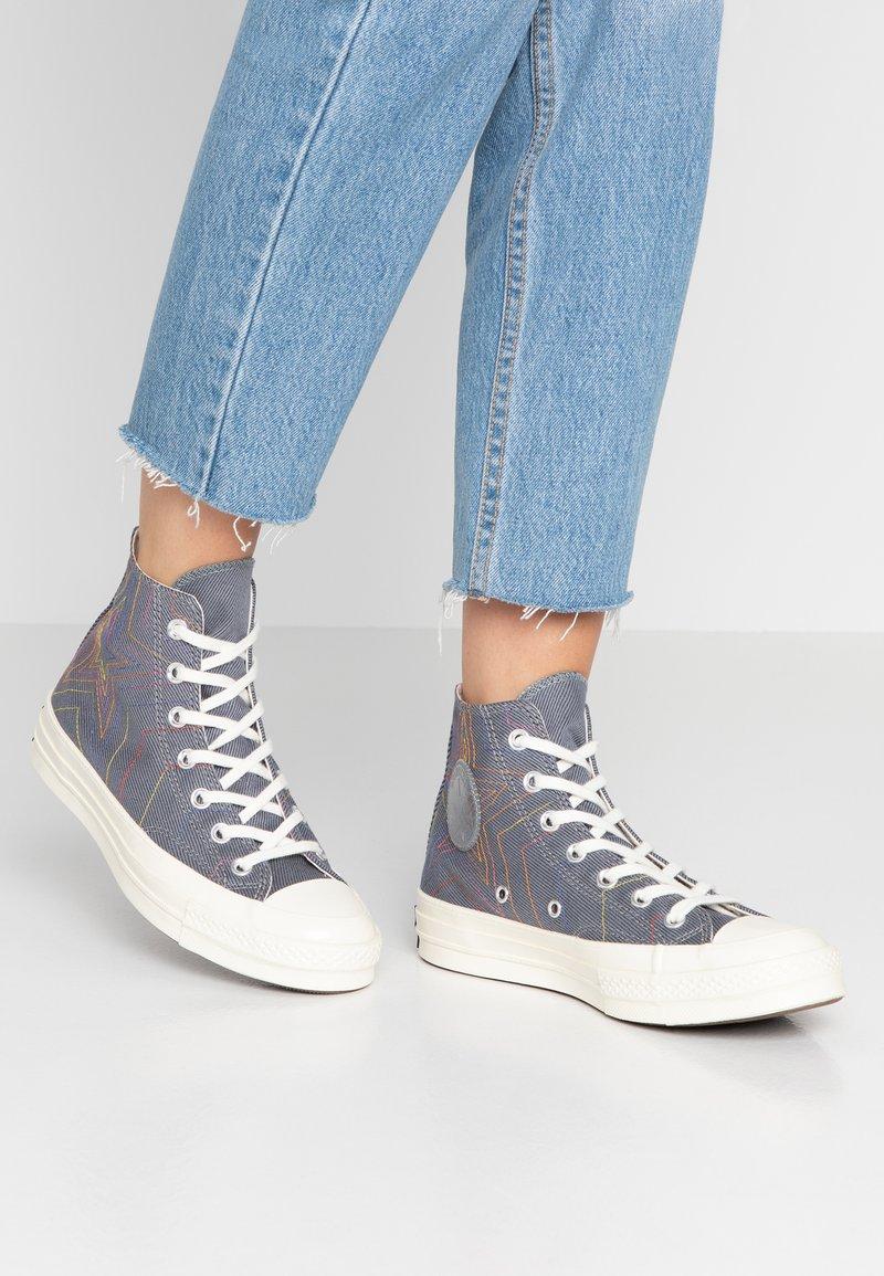 Converse - CHUCK 70 RAINBOW - Sneakers hoog - black/cool grey/egret