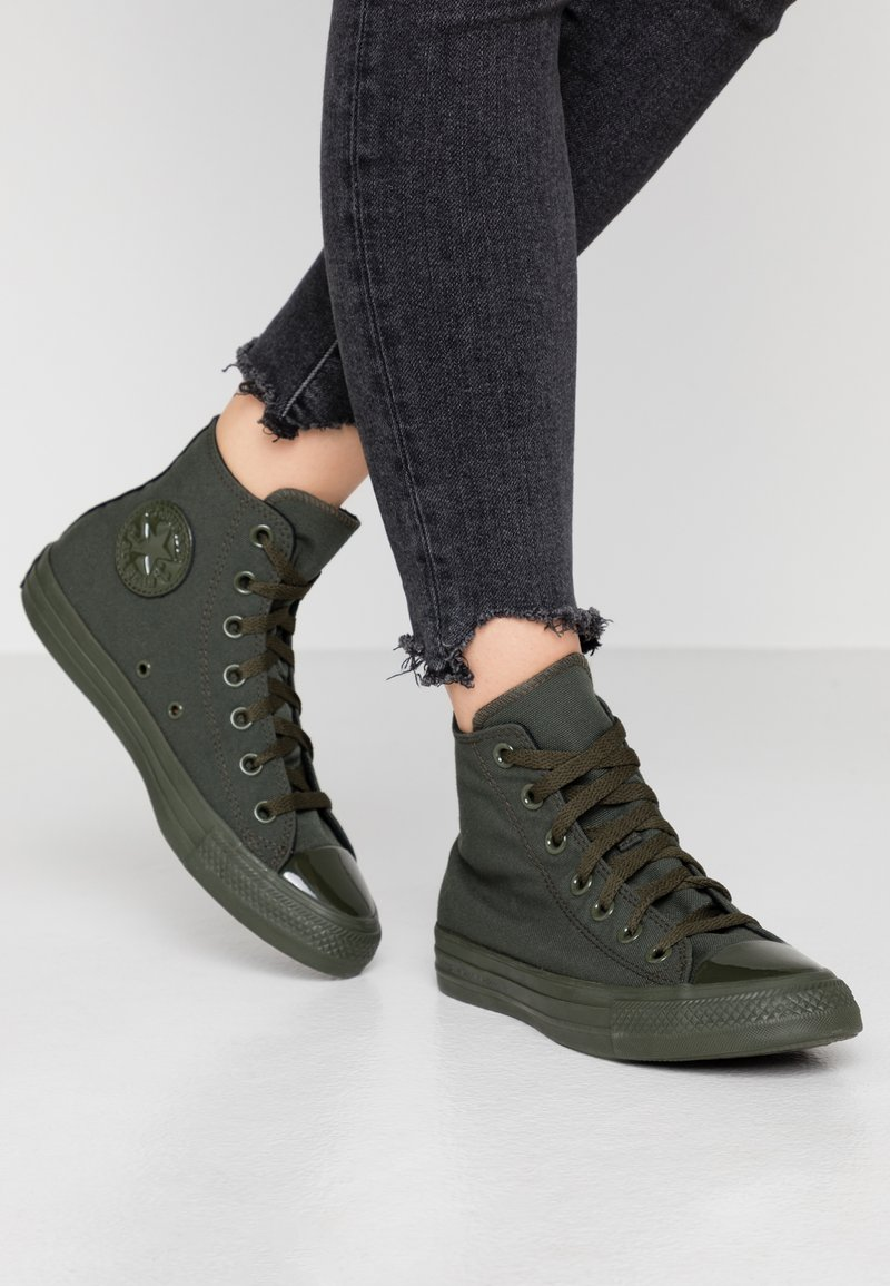 Converse - CHUCK TAYLOR ALL STAR OPI - Sneaker high - thyme/black