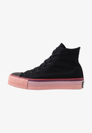 CHUCK TAYLOR ALL STAR OPI LIFT - Høye joggesko - black/white/black cherry