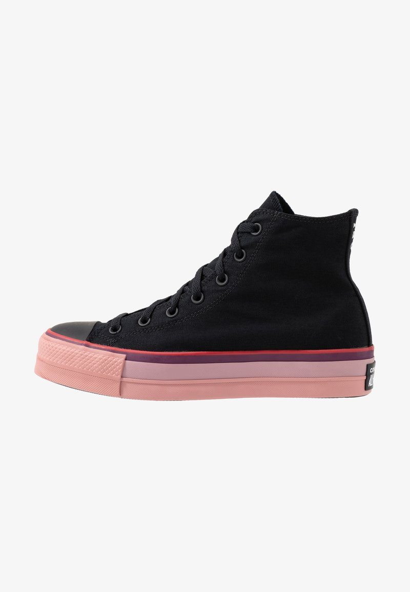Converse - CHUCK TAYLOR ALL STAR OPI LIFT - High-top trainers - black/white/black cherry