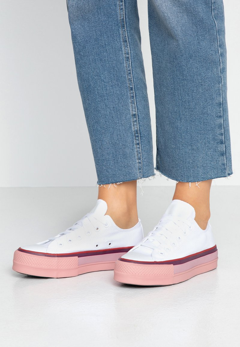 Converse - CHUCK TAYLOR ALL STAR OPI LIFT  - Sneaker low - pure silver/white/rust pink