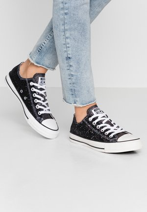 CHUCK TAYLOR ALL STAR GLITTER - Baskets basses - black/silver/white