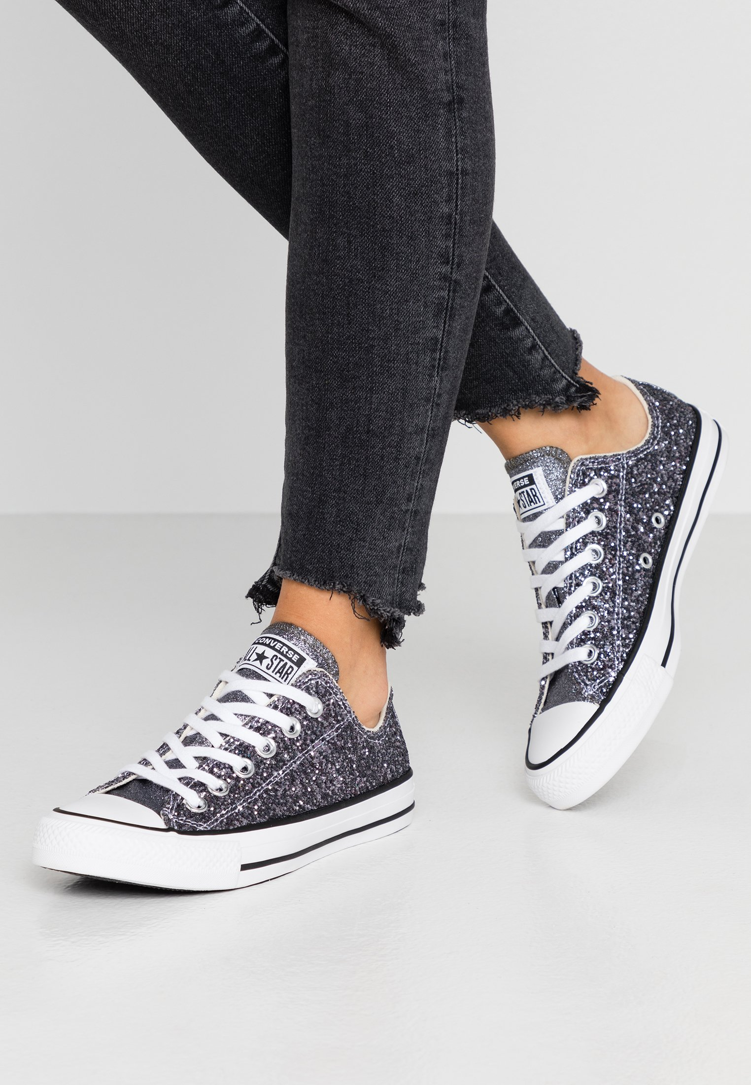 CONVERSE, Chuck Taylor All Star Glitter Sneakers Low, silber