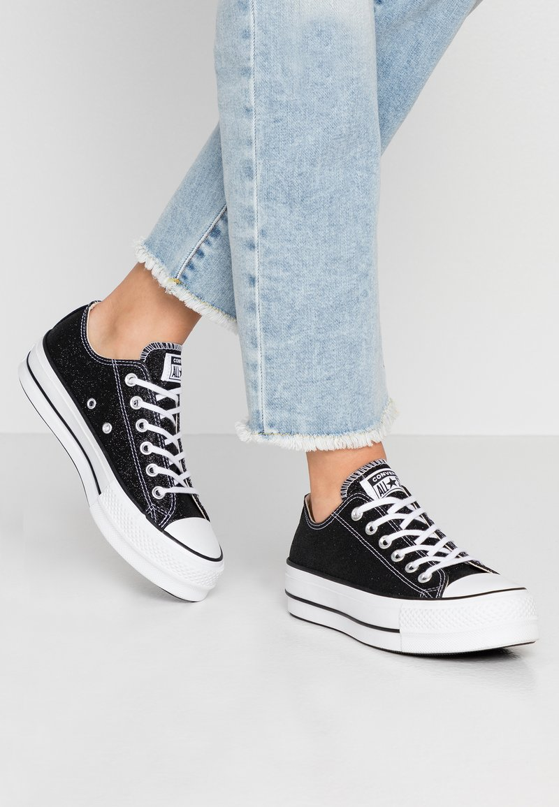 Converse - CHUCK TAYLOR ALL STAR LIFT GLITTER - Zapatillas - black/white