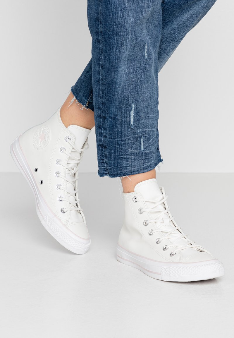 Converse - CHUCK TAYLOR ALL STAR IRIDESCENT - Høye joggesko - vintage white/barely rose/white