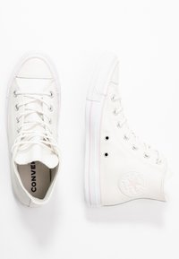 Converse - CHUCK TAYLOR ALL STAR IRIDESCENT - Høye joggesko - vintage white/barely rose/white - 3