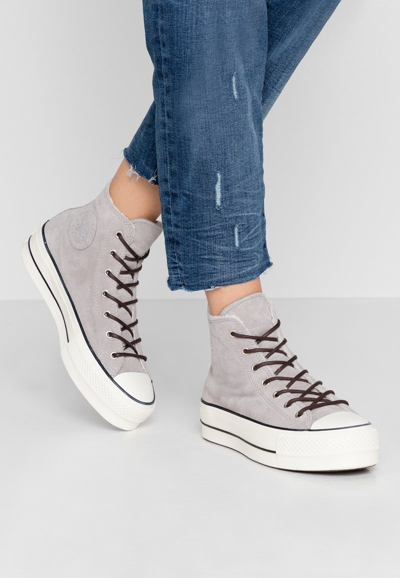 Converse - CHUCK TAYLOR ALL STAR LIFT - Høye joggesko - wolf grey/egret/black