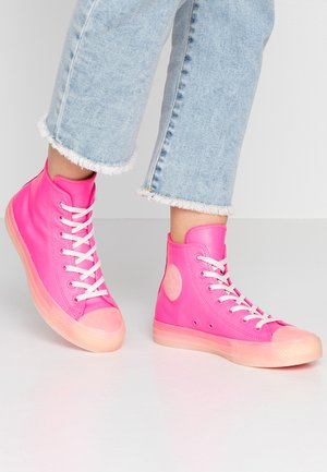 CHUCK TAYLOR ALL STAR - Høye joggesko - neo pink/vintage white/natural ivory